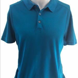 Calvin Klein Men's Bodyfit Turquoise Golf Shirt